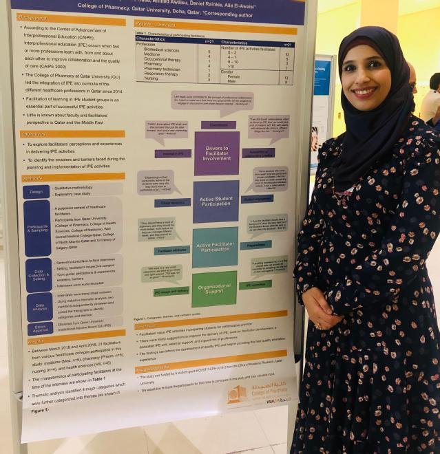 CPH Assistant Dean for Student Affairs and QU Health Chair for Interprofessional Education Committee Dr. Alla El-Awaisi