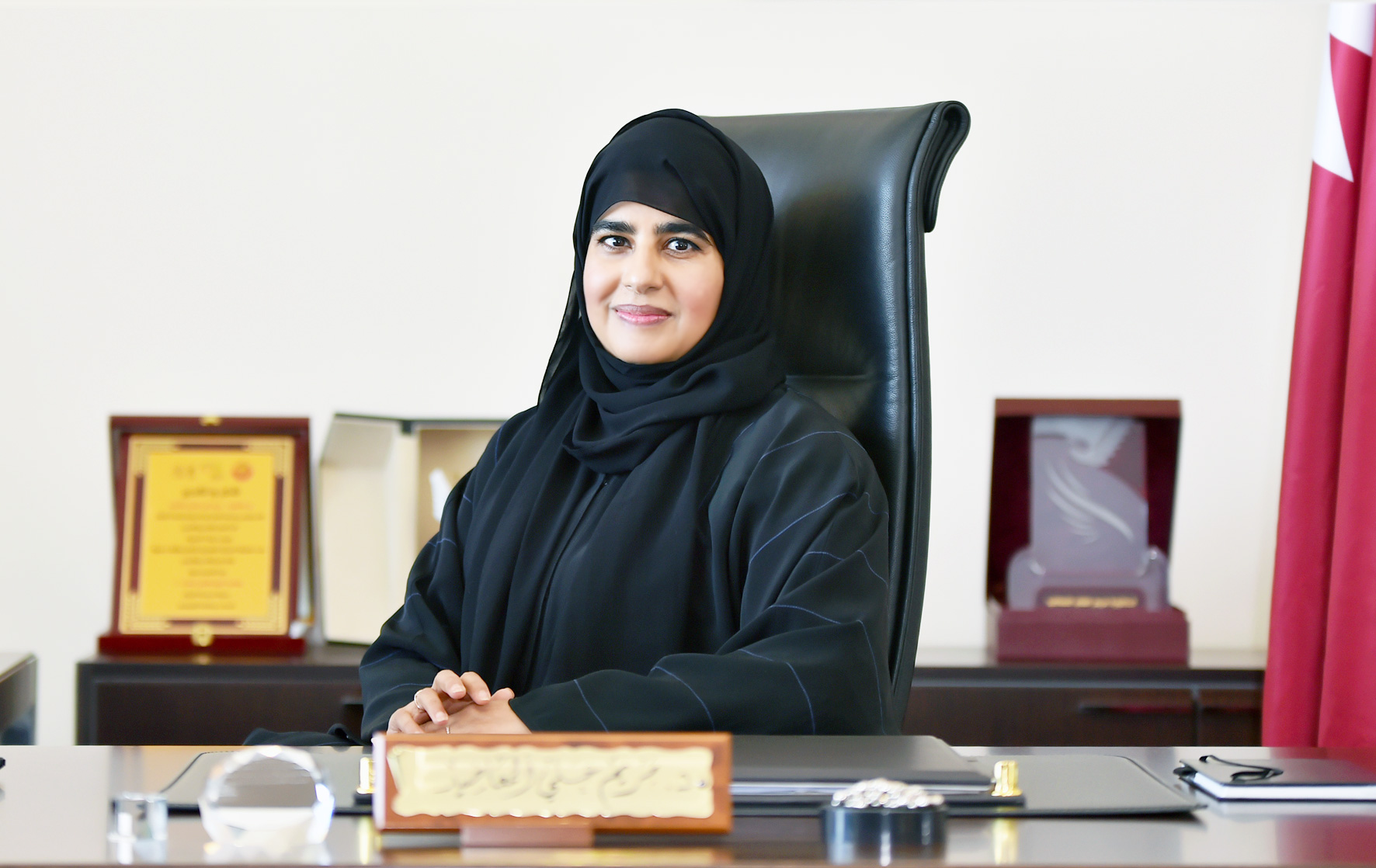 Photo od Professor Mariam Al-Ali Al-Maddeed, the Vice President for Research at Qatar University